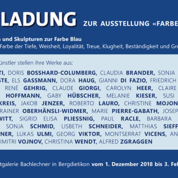 Farbe Blau: collettiva alla Galleria Bachlechner